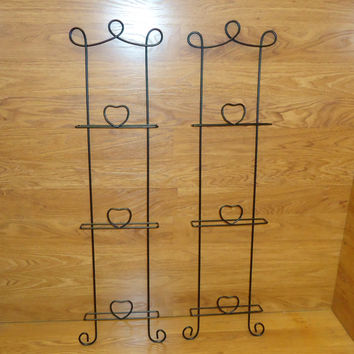 Designer Hanging Wall Frames 40in x 10 1/4in x 2 1/4in Black Decorative Metal -- Used