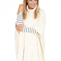 In A Crowded Room Poncho in Ivory | Monday Dress Boutique