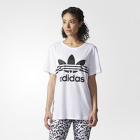 """Adidas"" Women All-match Casual Letter Short Sleeve T-shirt"