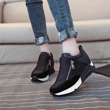 Outdoors Adults Trainers Winter Running Shoes for Woman Sport Athletic Breathable Thick Bottom Platform Sneakers #3j#F