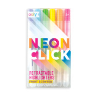 Neon Click Scented Retractable Highlighters