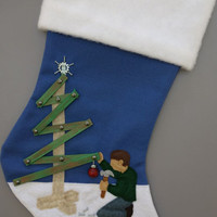 Christmas Construction Christmas Stocking