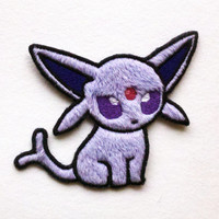 Pokedoll: Espeon (Fuzzy Style Minky) - Pokemon Machine Embroidered Patch Applique