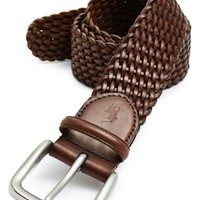 Men's Polo Ralph Lauren Braided Leather Belt,