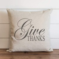 Fall Pillow Cover // Give Thanks