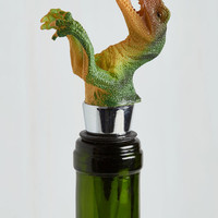 Quirky Dino and Drinks Wine Stopper by ModCloth