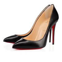 Best Online Sale Christian Louboutin Cl Pigalle Follies Black Leather 100mm Stiletto Heel 14w