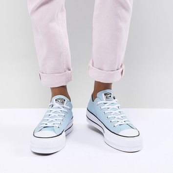 Converse Chuck Taylor All Star Platform Sneakers In Blue at asos.com