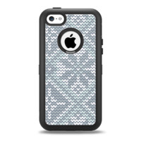 The Knitted Snowflake Fabric Pattern Apple iPhone 5c Otterbox Defender Case Skin Set