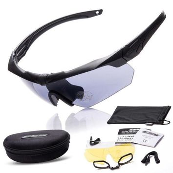 Tactical Glasses Military Goggles TR90 Bullet-proof Army Sunglasses With 3 Lens Original Box Men Shooting Eyewear Gafas 2017