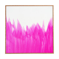 Allyson Johnson Pink Brushed Framed Wall Art