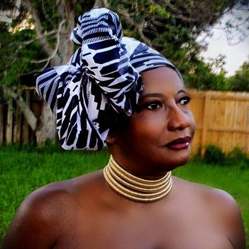 African Print Headwrap THE AFRICANA