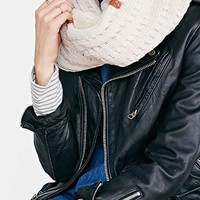 Bickley + Mitchell Pointelle Knit Eternity Scarf-