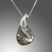 Boulder Opal Pendant Sterling Silver | Pyramid Studios Jewelry Design