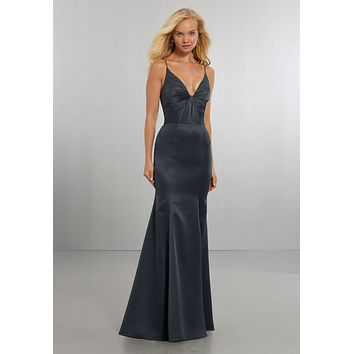 Morilee Bridesmaids 21569 Fit and Flare Satin Bridesmaid Dress