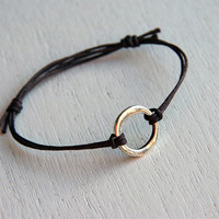 Irregular Karma Bracelet with Waxed Cotton Thread (Many colors)