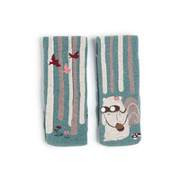 Squirrel pattern long socks