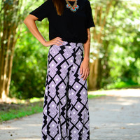 On My Own Palazzo Pants, Black/White