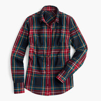 J.Crew Womens Perfect Shirt In Stewart Plaid