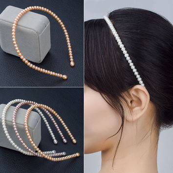 Pearls Ring Stylish Accessory Hairband [4914841028]