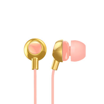 Gold/Peach earbuds