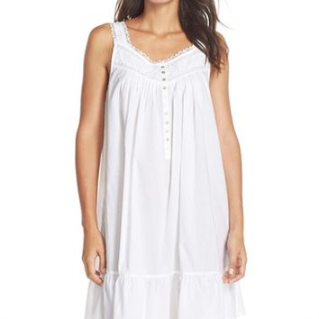Women's Eileen West Sleepwear 'White Nights' Short Nightgown,