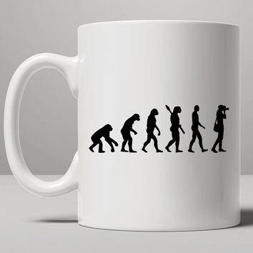 Evolution Of The Photographer Mug, Tea Mug, Coffee Mug