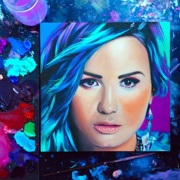 Demi Lovato, Fine Art Print, Glicee Print, Oil Painting, Pop Art, Popstar