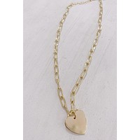 Theia Heart Charm Necklace