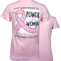 Southern Couture Power of a Woman Breast Cancer T-Shirt