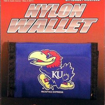 Kansas Jayhawks KU Licensed Nylon Trifold Wallet NCAA