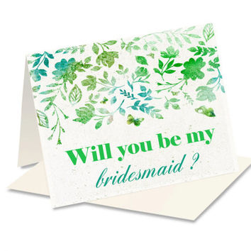 Will You Be My Bridesmaid - Bridesmaid Card - Bridesmaid Proposal - Bridesmaid Invite - Bridal Party - Bridesmaid Gift - Wedding Party Card