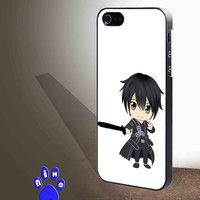 Sword Art Online Kirito 02 for iphone 4/4s/5/5s/5c/6/6+, Samsung S3/S4/S5/S6, iPad 2/3/4/Air/Mini, iPod 4/5, Samsung Note 3/4 Case **
