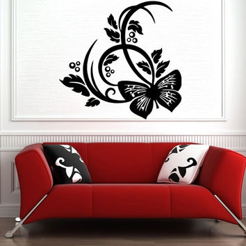 Butterfly Nature Abstract Vinyl Decal Wall Sticker Furniture Removable Art Decal Decor DIY Mural Handmade! Free shipping Worldwide!