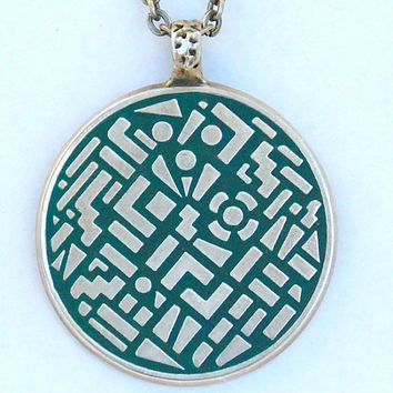 Google Earth Medallion by AndreaBacmanJewelry on Etsy