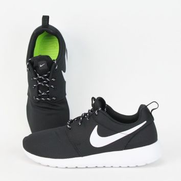 3198d2f85aa Nike Women Roshe Run Black  White-Volt from premiumist on eBay