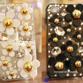 Free Phone Case & Fragrance of Chrysanthemum Rhinestones DIY Deco Kit Decoden Kit Cabochon Deco Kit For DIY Cell Phone iPhone 4G 4S 5 Case
