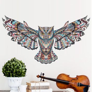 Owl Children Kids Baby Bedroom Wall Sticker For Kids Rooms Eagle Hawk Wall Painted Tatoo Home Decor Wall Art Decals