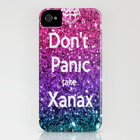 Don't Panic Take Xanax iphone5 and available as Samsung Galaxy S4 double click and drop down options on society 6