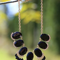 Dazzling Dame Petite Necklace in Black