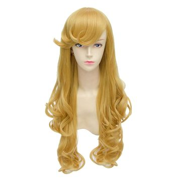 Sleeping Beauty Wig Sleeping Beauty Aurora Cosplay Long Spiral Curls Blonde Princess Costume Wig For Adults