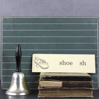 Picture Word Flashcard Sh Consonant Sound 1960s Dolch