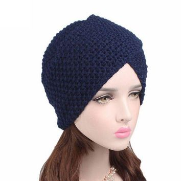 VONES0 Brand New Solid Fashion Women hats Ladies Warm Winter knitted Hat Cap Women Winter Cute Casual Cap Women Beanies