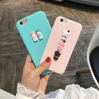 3D Coffee Milk Cute candy silicone TPU phone Case for iphone 5 6 6s 7 plus 8 X cover for Samsung galaxy S8 S7 A520 S6 edge J5