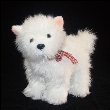 West Highland White Terrier Dog Stuffed Animal Plush Toy 9""