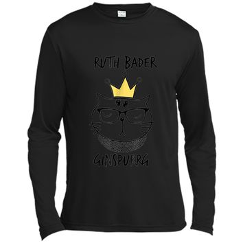 Notorious RBG  - Funny Ruth Bader Ginspurrg Funny Cat Long Sleeve Moisture Absorbing Shirt