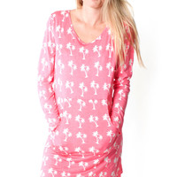 Coral Palms Willa Hoodie Dress