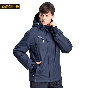 WHS New Men ski Jackets brands Outdoor Warm Snowboard Jacket coat male waterproof snow jacket Man sportswear winter clothes