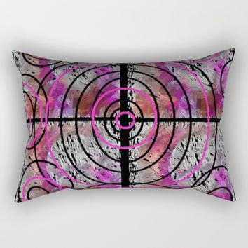 PINK MAZE Rectangular Pillow by violajohnsonriley