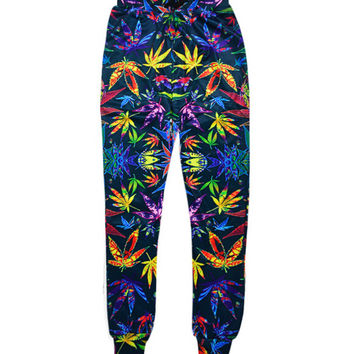 Multi-Color Weed Leaf Jogger